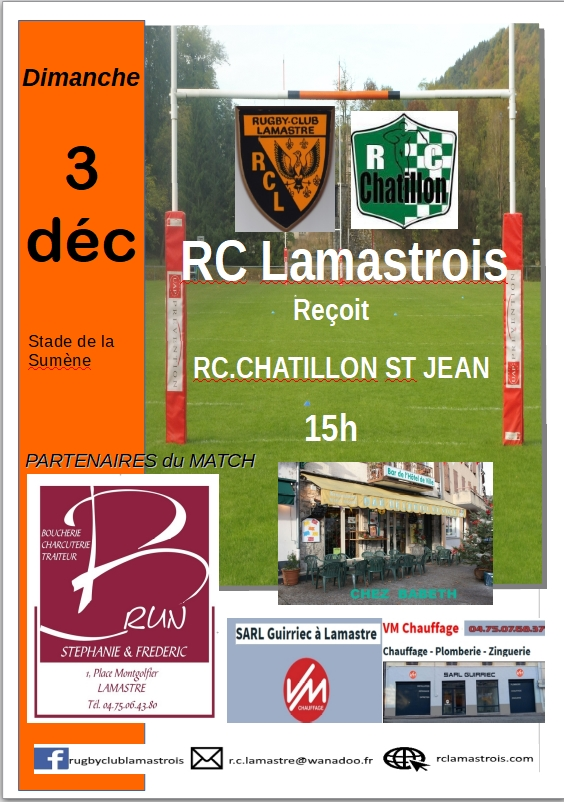 rugby lamastre chatillon st jean