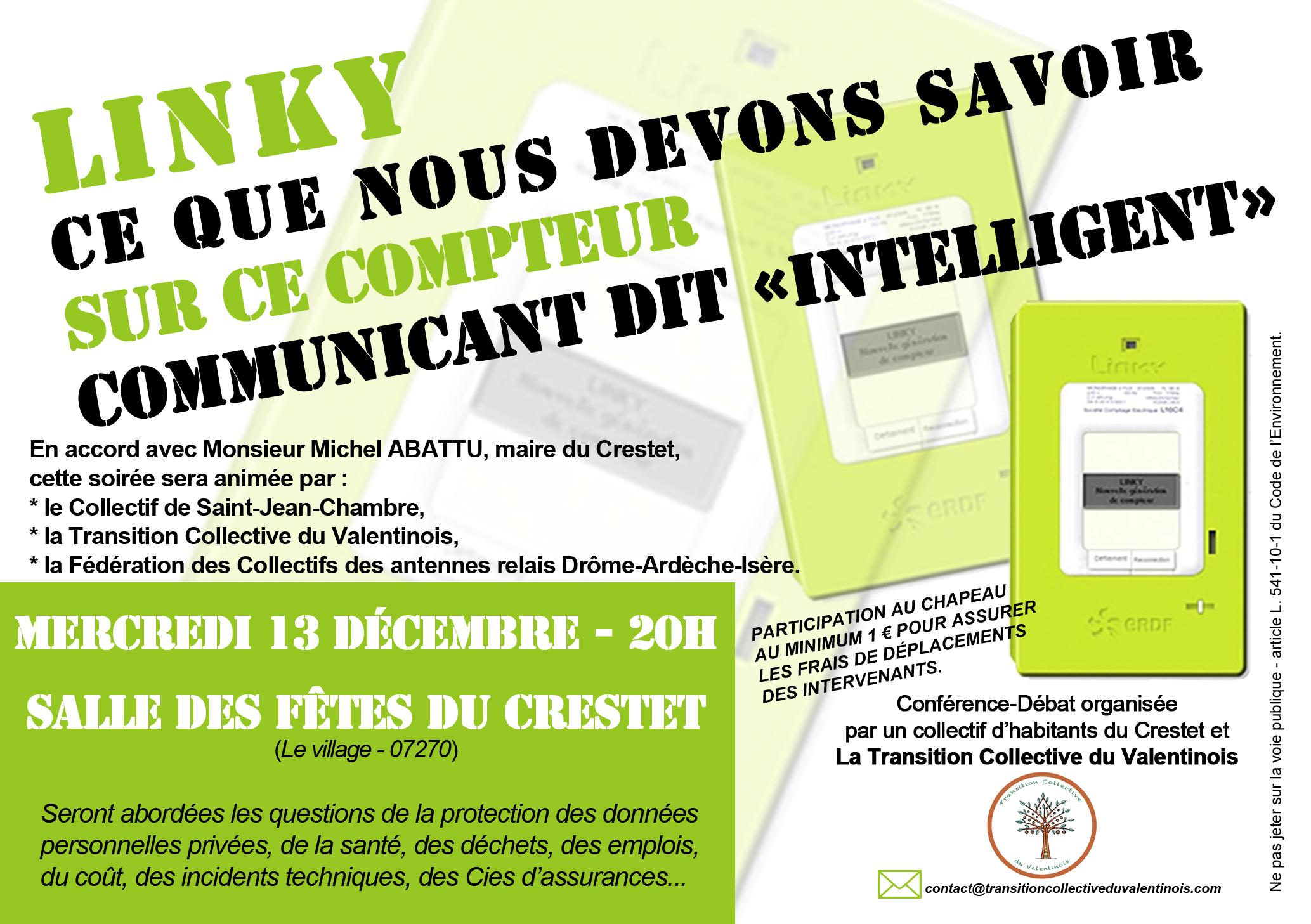 Affichette A5 réunion Linky 13-12-2017