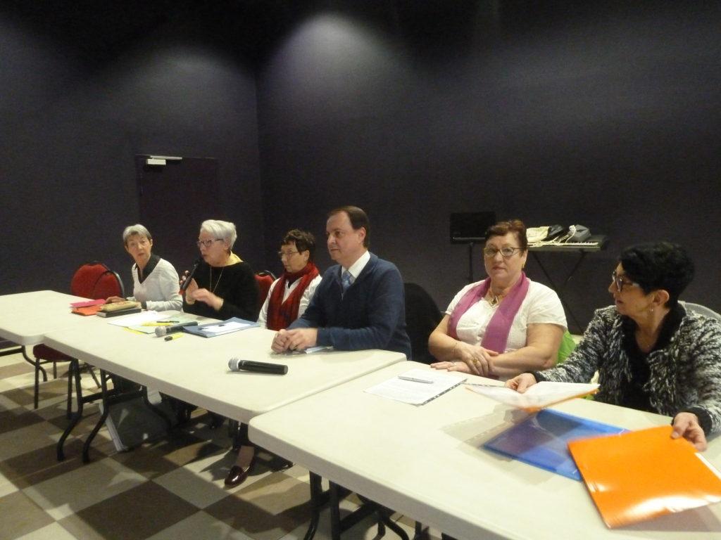 assemblée générale ensembles solidaires 2017. table bureau