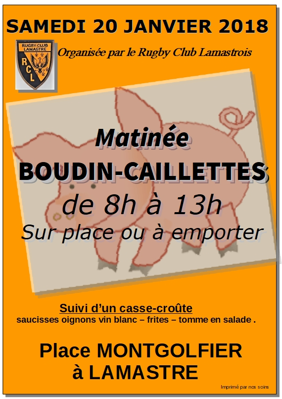 boudin caillettes 2018 rugby lamastre