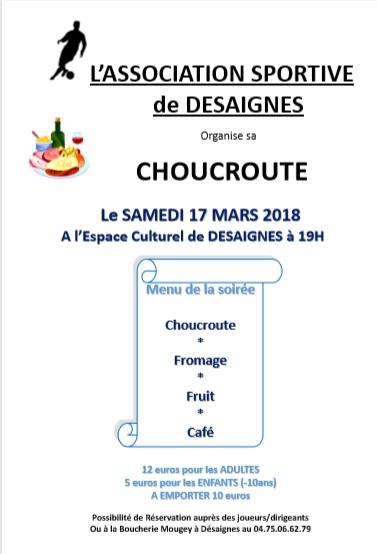 choucroute desaignes association sportive 2018
