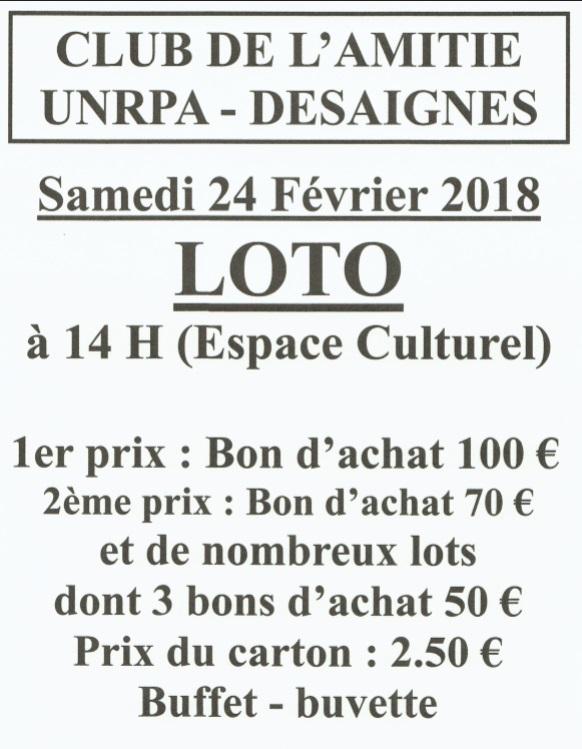 loto UNRPA AMITIE DESAIGNES