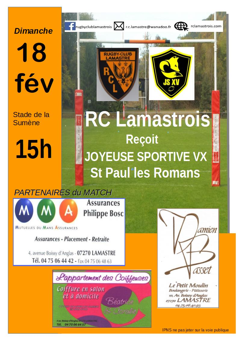 rugby rclst paul 18.02.18