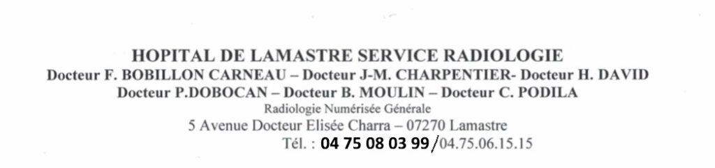 service radio hopital lamastre f