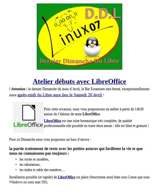 atelier libre office