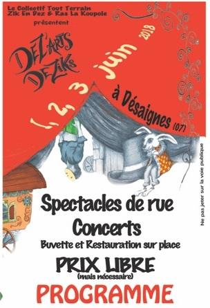 spectacle rue desaignes 2018