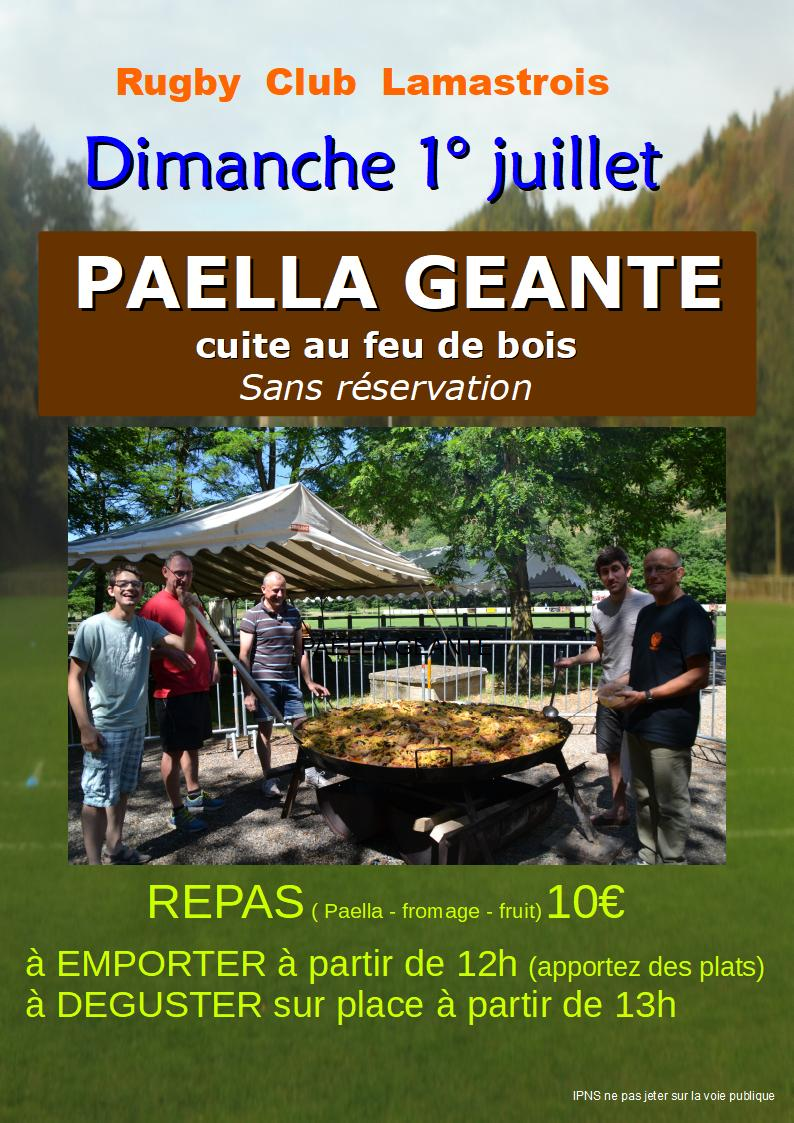 PAELLA RUGBY LAMASTRE 2018