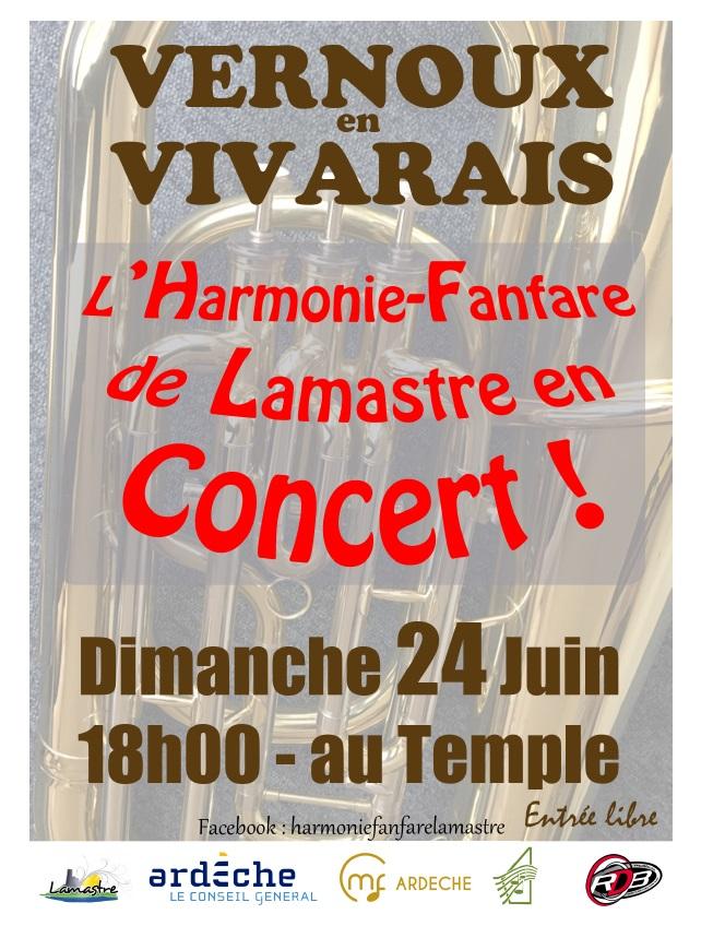 concert fanfare lamastre vernoux 2018