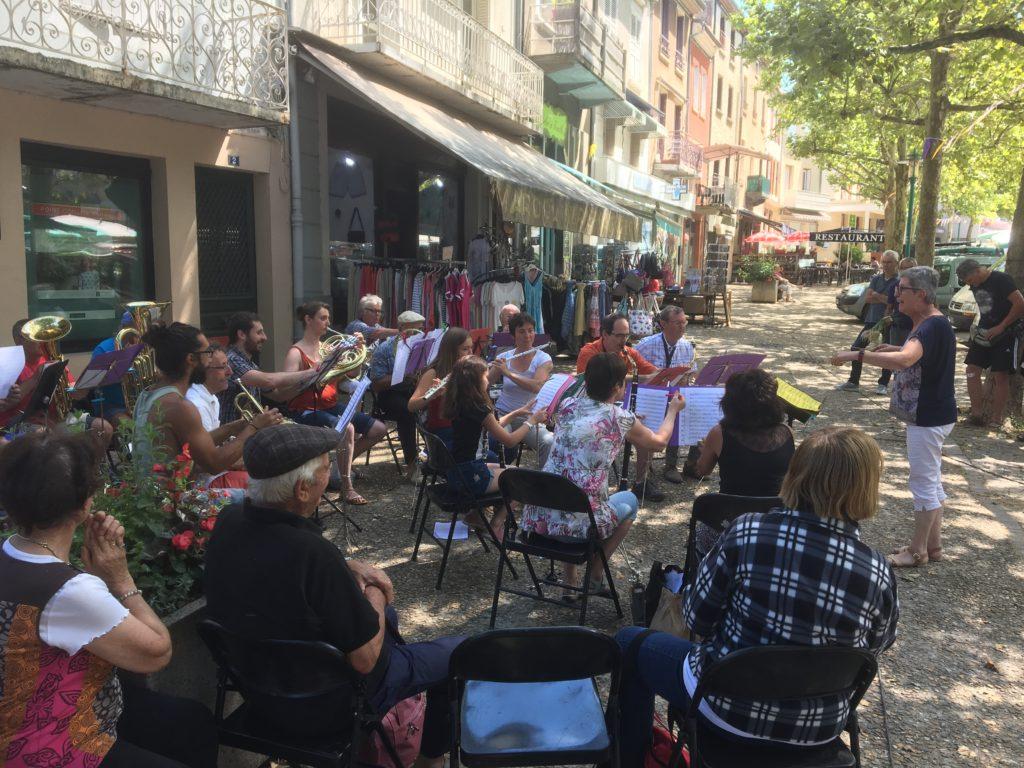 concert harmonie fanfare lamastre marché terroir
