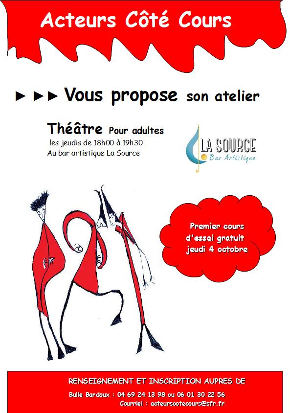 atelier theatre acteurs coté cours desaignes 2018 affiche