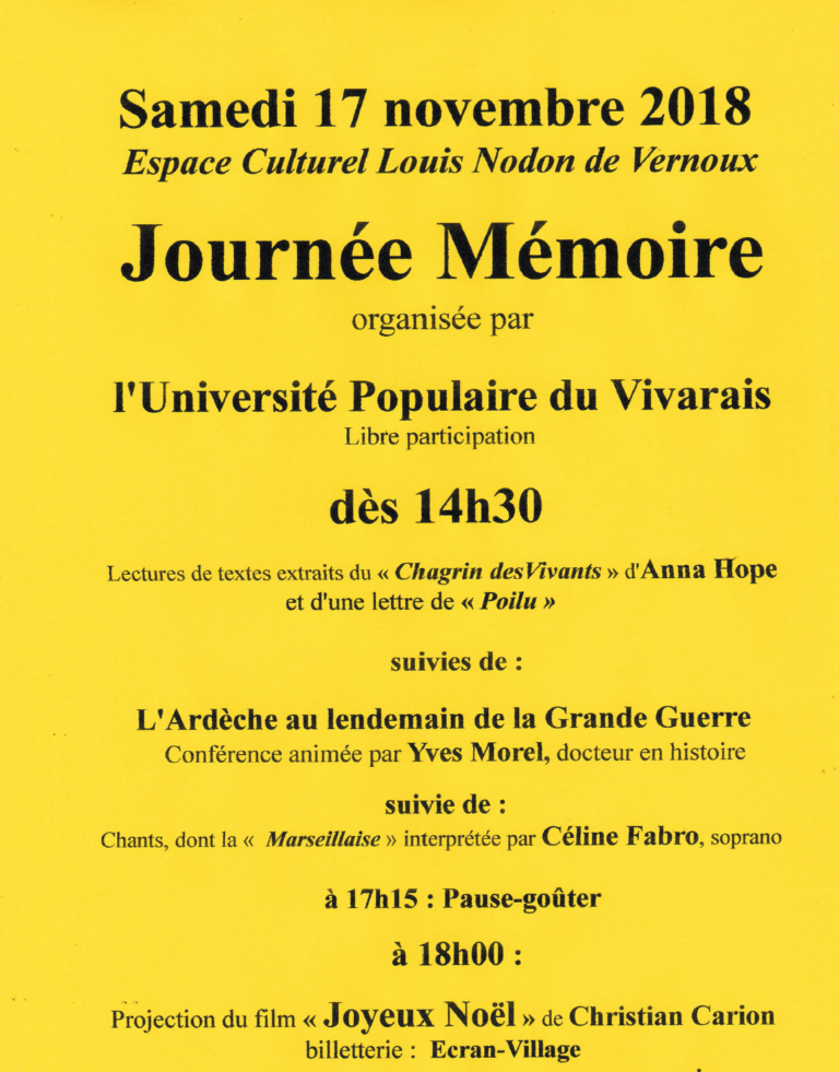 JOURNEE MEMOIRE UTL 2018