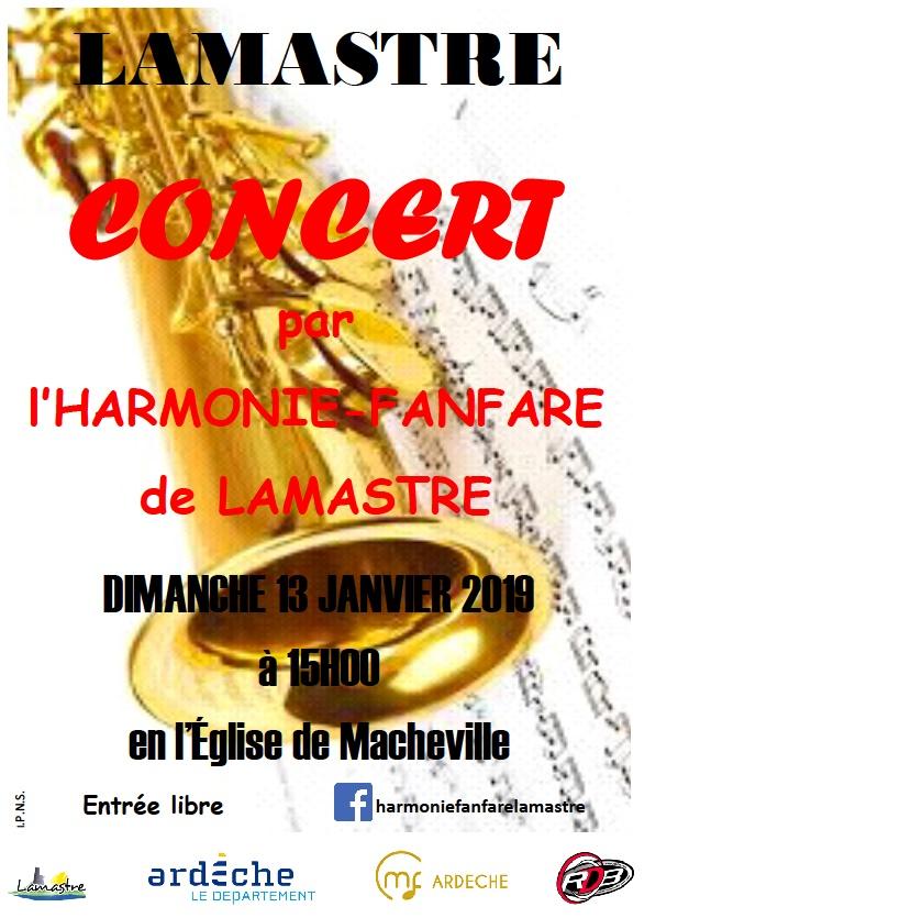 concert fanfare lamastre janvier 19