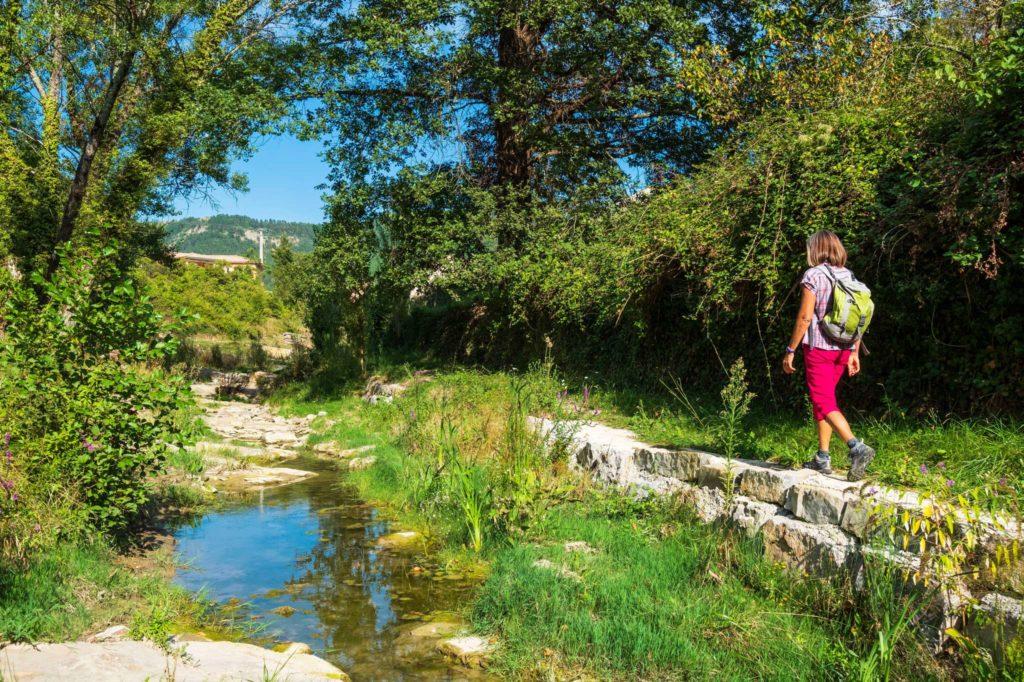 France, Ardèche (07), Parc Naturel régional des Monts d'Ardèche, randonnée au départ de Vesseaux le long du Liopoux