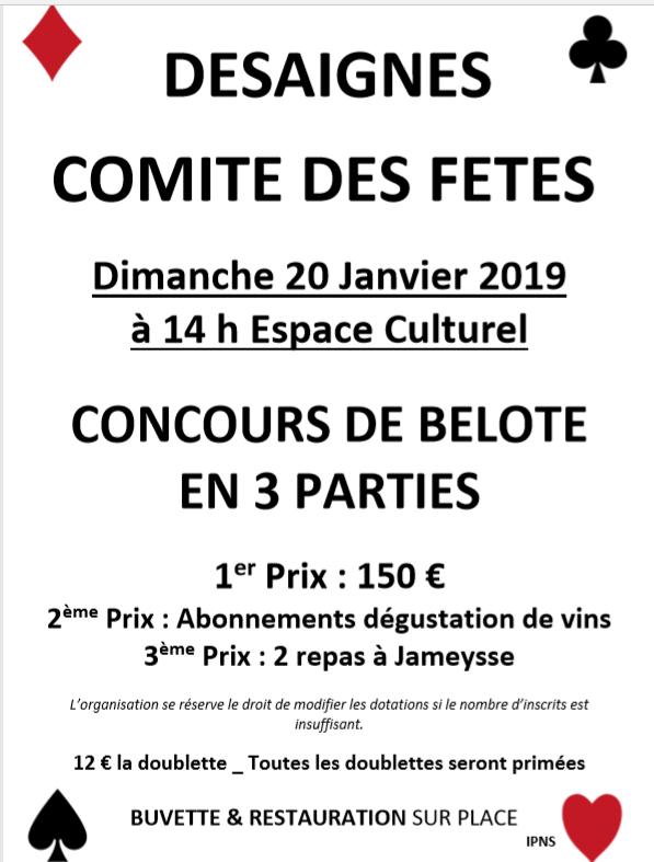 belote 2019 comité desaignes