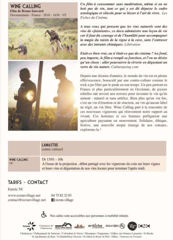 wine calling lamastre ecran village 2
