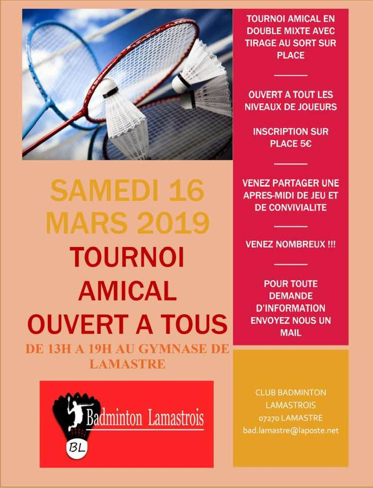 badmington lamastre tournoi