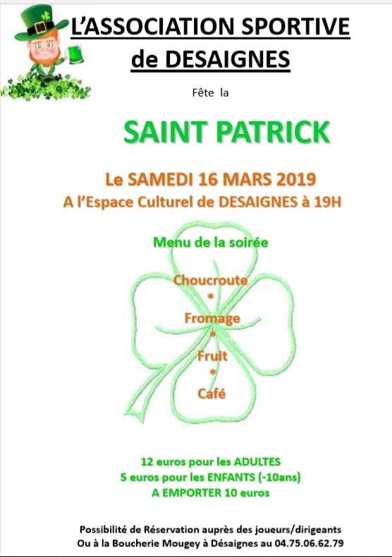 saint patrick desaignes 2019