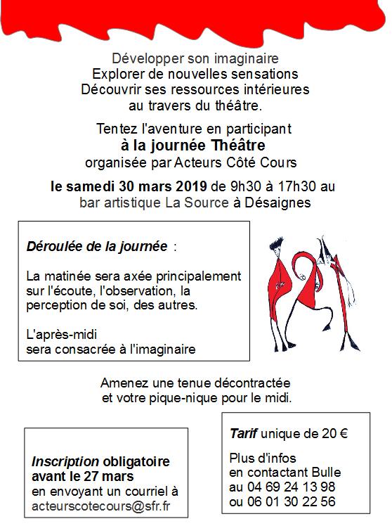 flyer acteurs coté cours du 30 mars