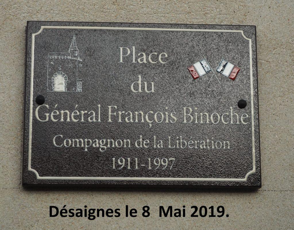 plaque général Binoche desaignes
