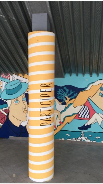 pilier préau lamastre participer