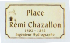 plaque place rémi Chazallon