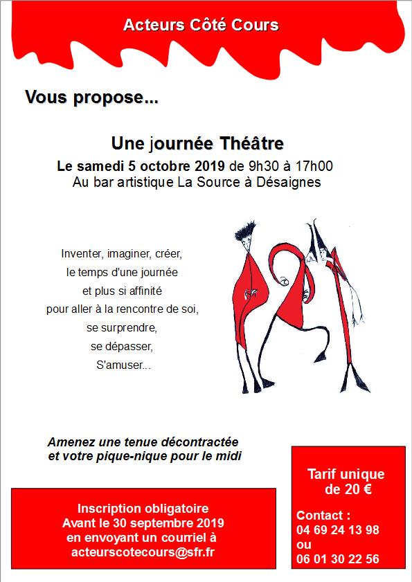Affiche journée du 5 octobre 19 acteurs coté cours