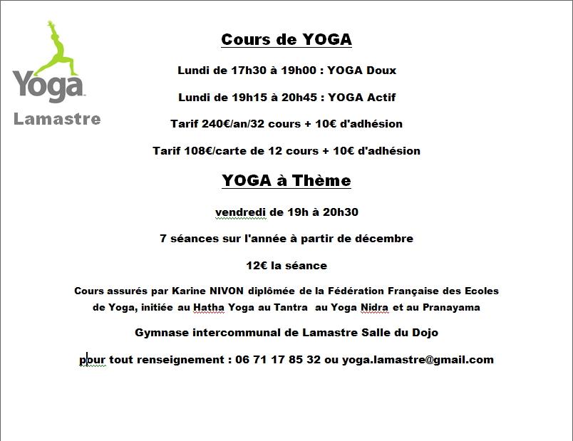 yoga lamastre 2019