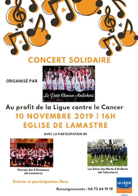 concert lutte contre cancer lamastre
