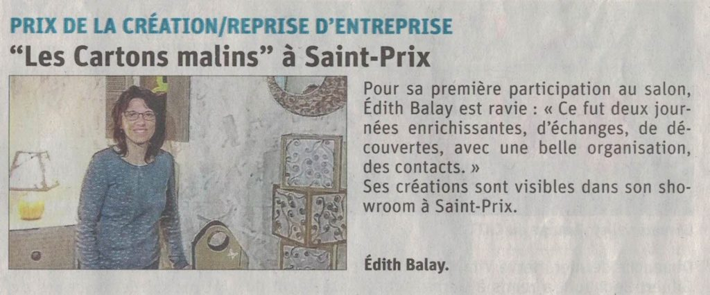 salon artisanat commerce lamastre trophée creation edith balay cartons malins
