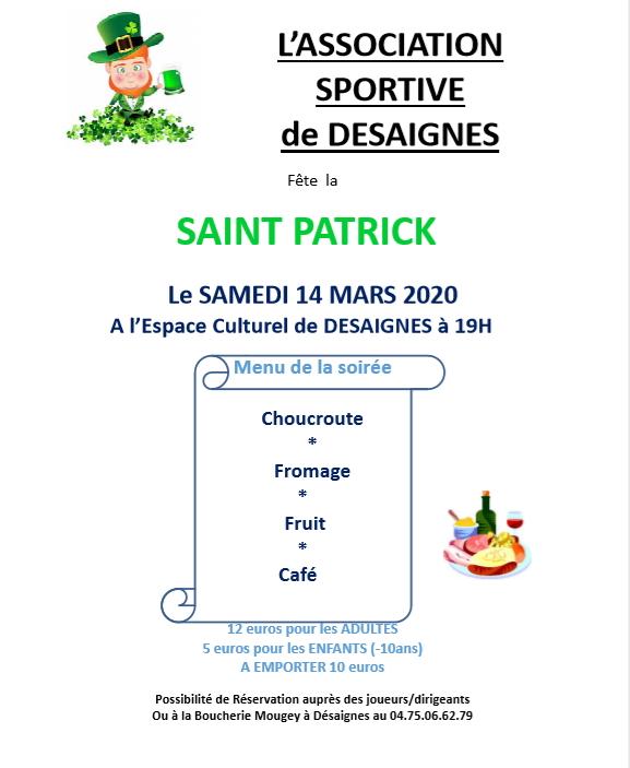 saint patrick desaignes 2020