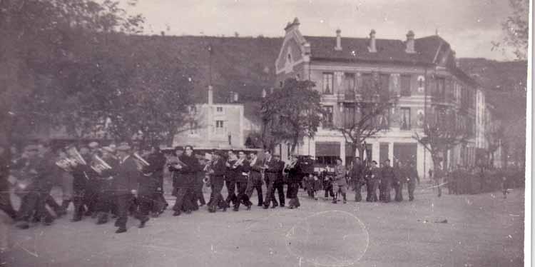 11 juin 1944 lamastre défile fanfare