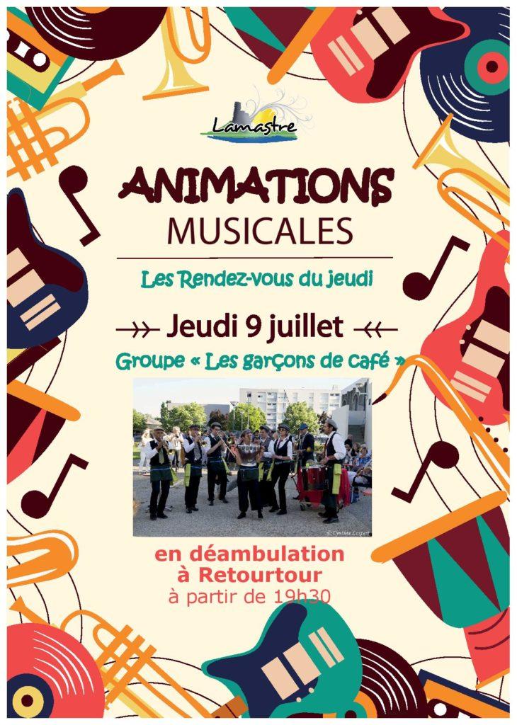 ANIMATION MUSICALE Retourtour 9 juillet LAMSTRE