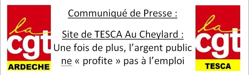 tesca le cheylard CGT