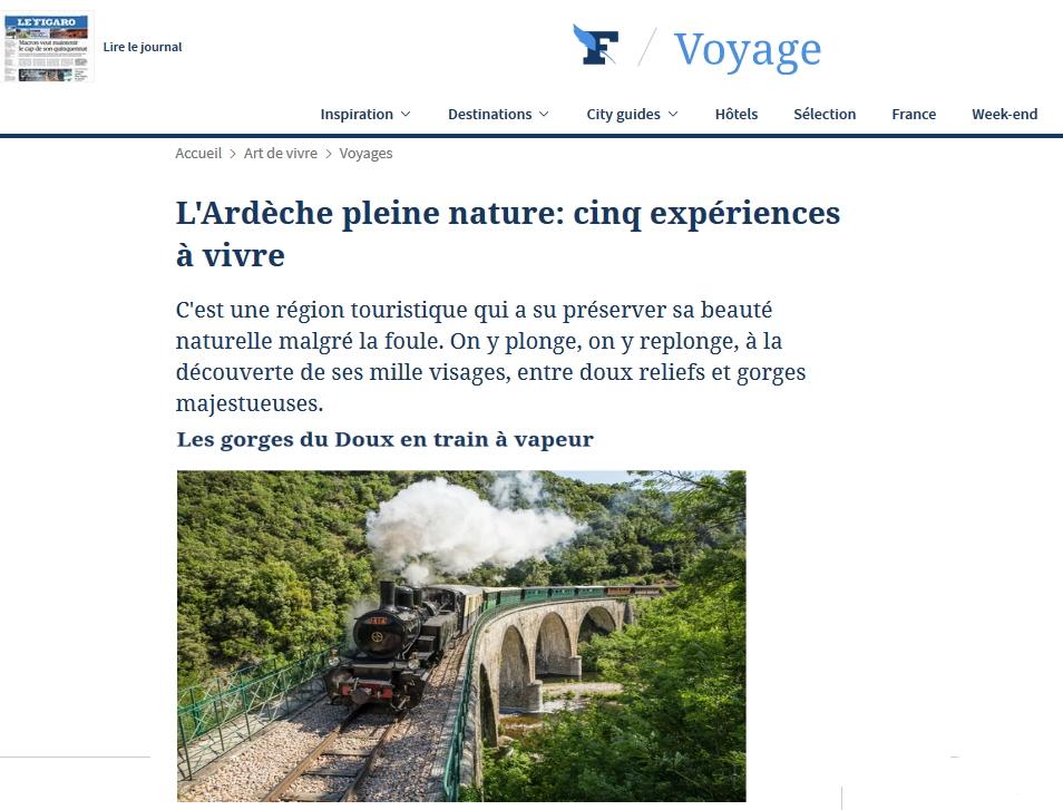 vacances découverte Lamastre Mastrou Dolce via train ardeche