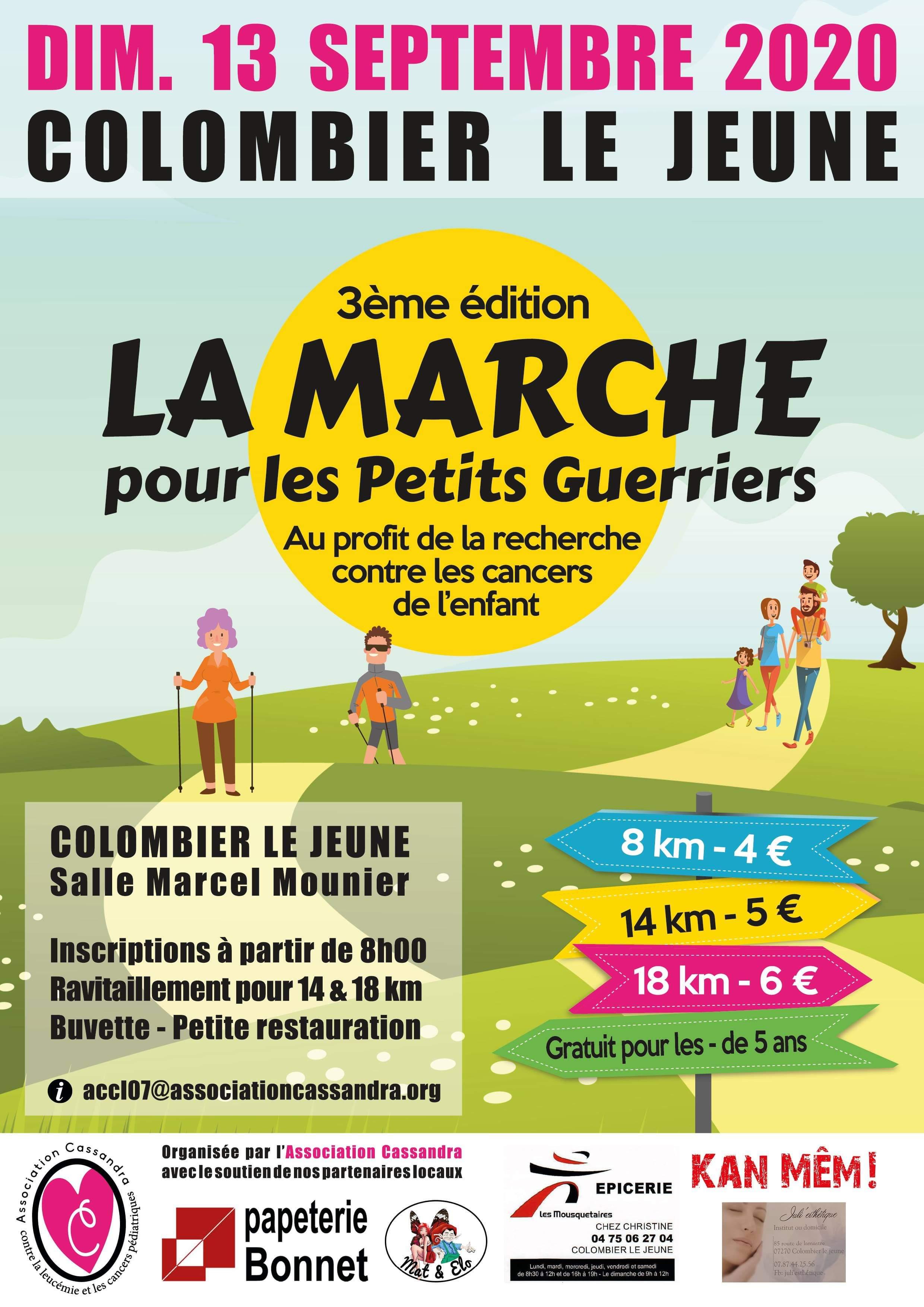 MARCHE PETIT GUERRIER COLOMBIER LE JEUNE