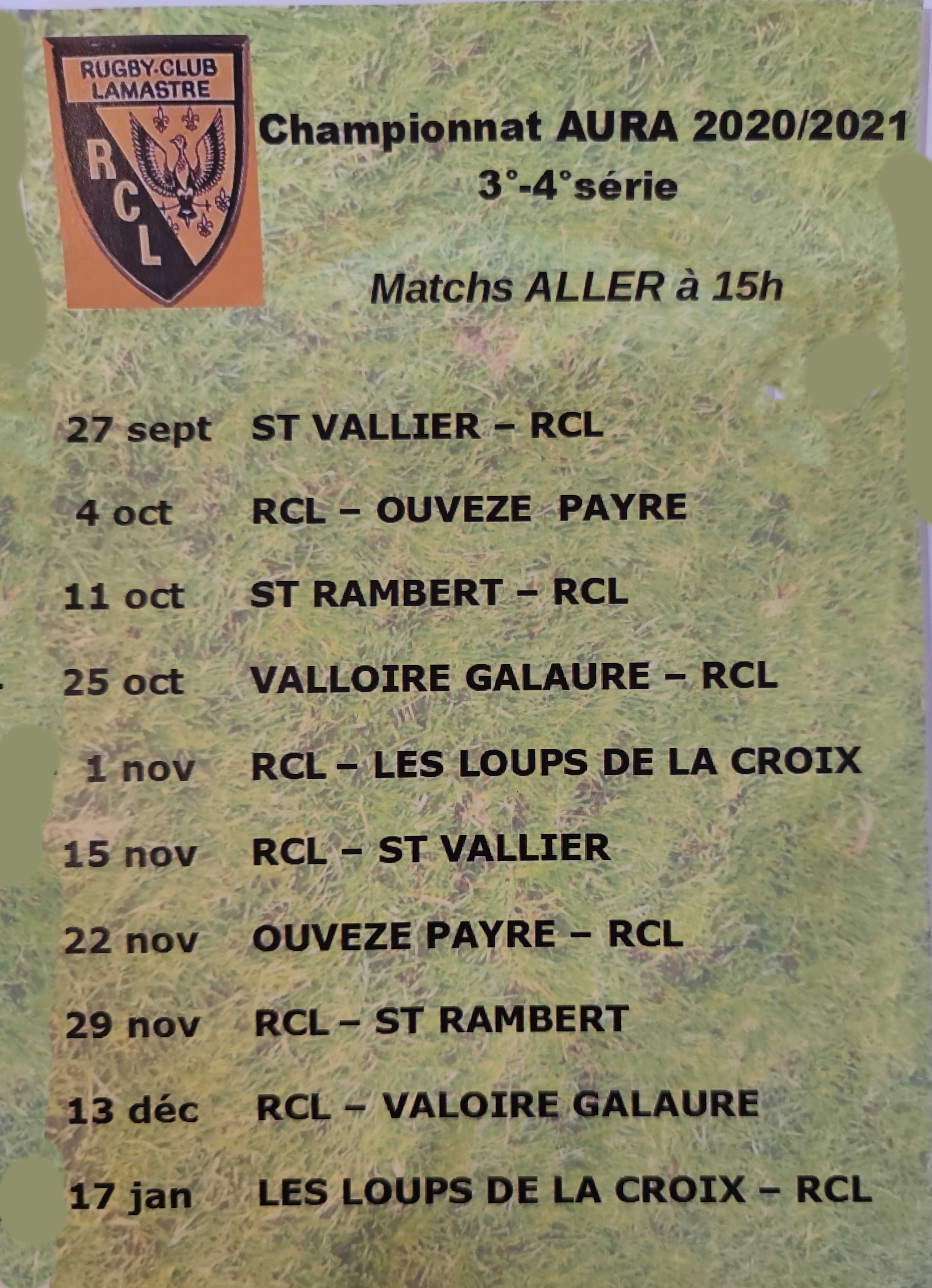PROGRAMME match aller rugby lamastre 2020 2021 aura F