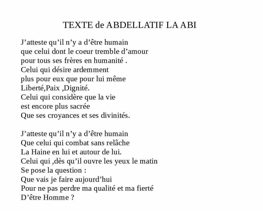 texte poete marocain LAABI lamastre