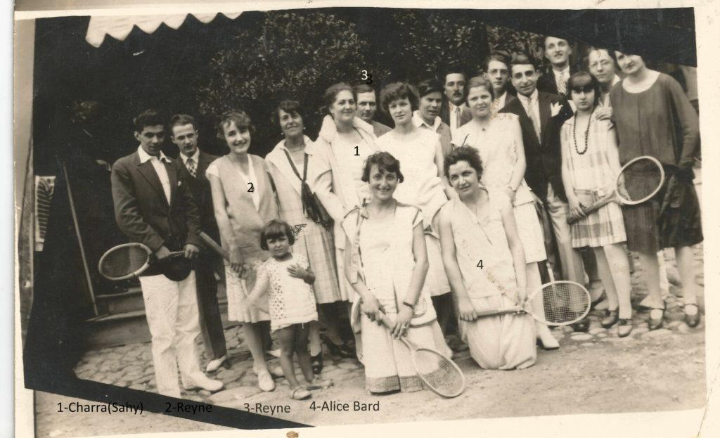 Equipe de Tennis de Lamastre vers 1923 nom