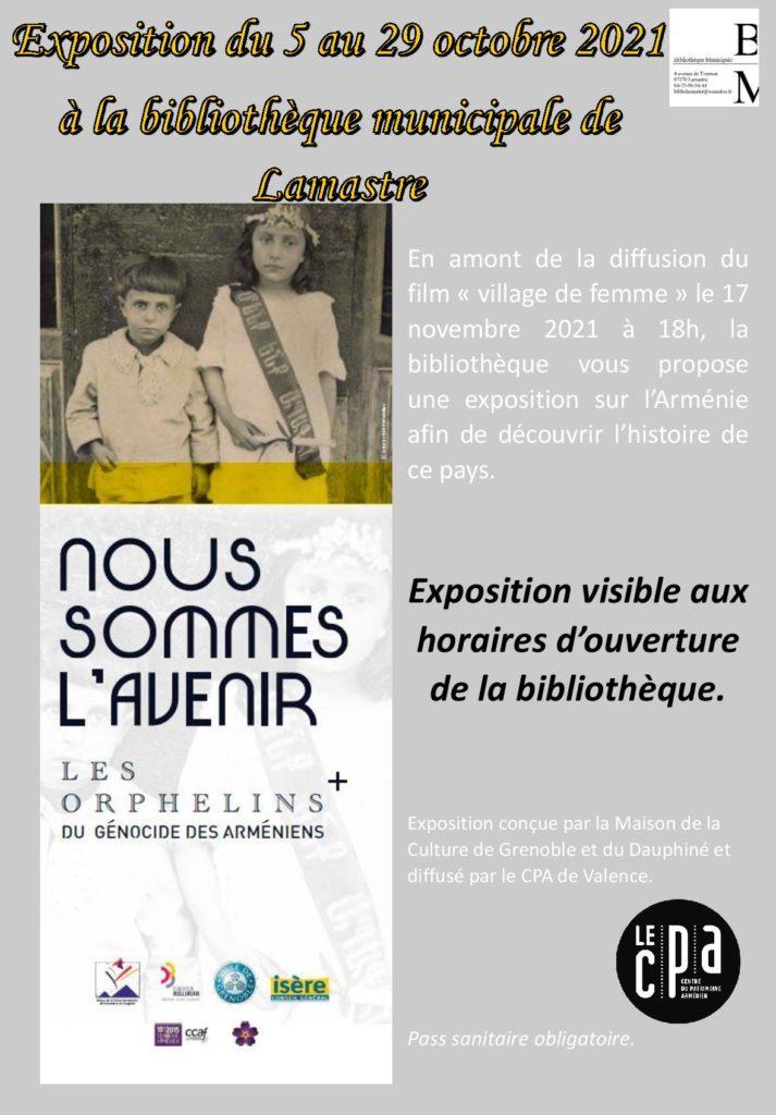 expo arménie lamastre bibliotheque