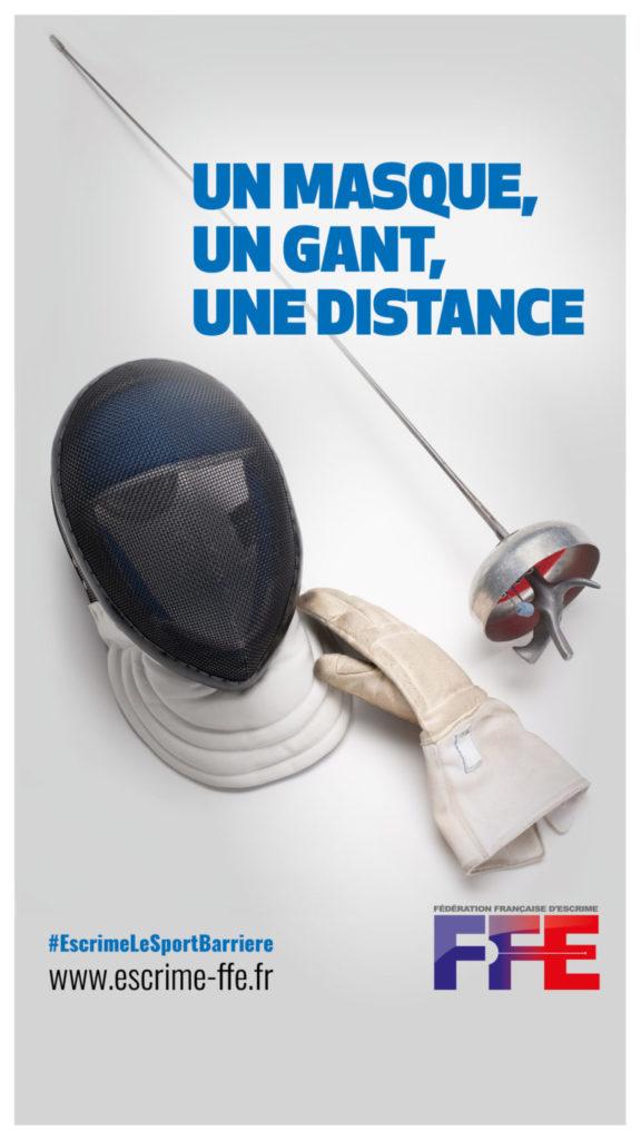 masque gant distance escrime