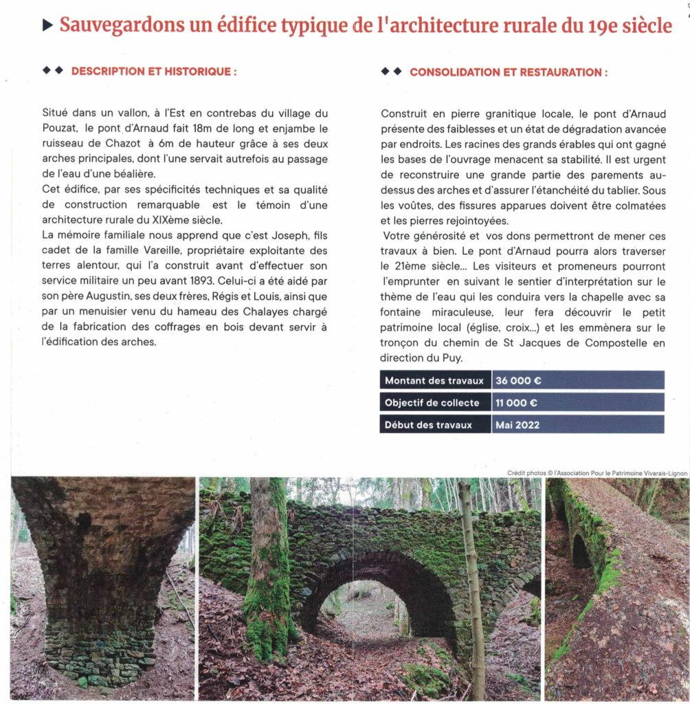 pont d'arnaud le pouzat saint agreve desciptif historique f