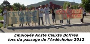 Manifestation calixte aoste Boffres ardechoise 2012
