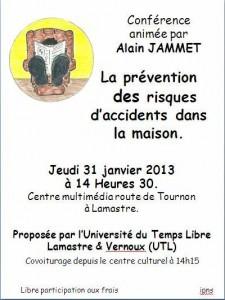 prévention risques accidents maisons UTL Lamastre