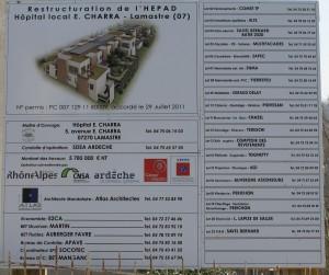 panneau information travaux EHPAD lamastre