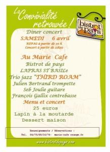 marie cafe concert third roam 6 avril