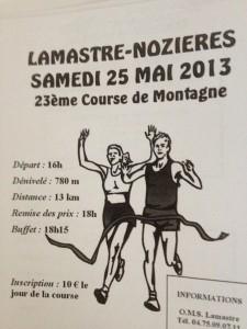 Lamastre nozieres 2013 COURSE MONTAGNE