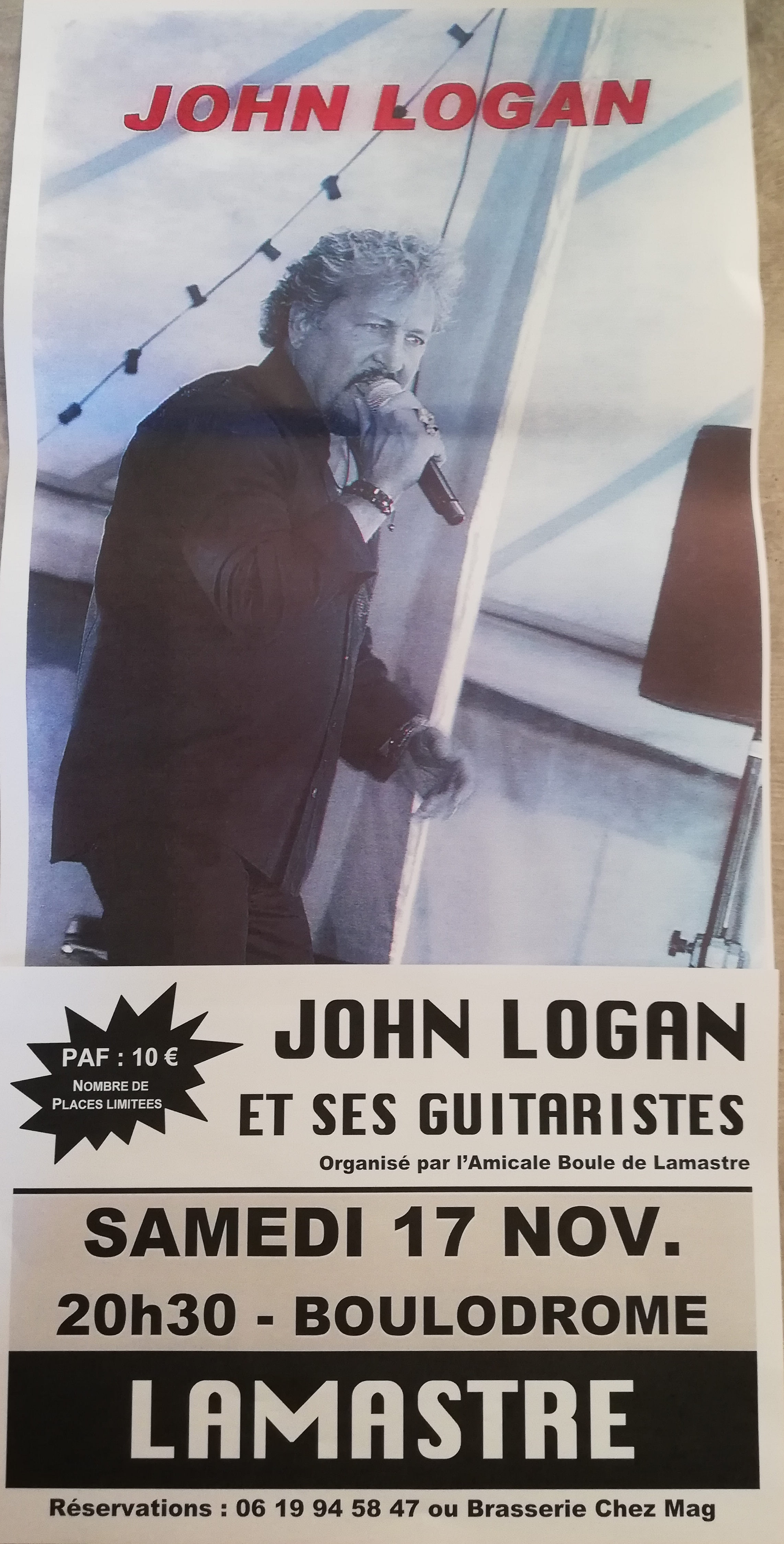 John Logan et ses guitaristes lamastre boule