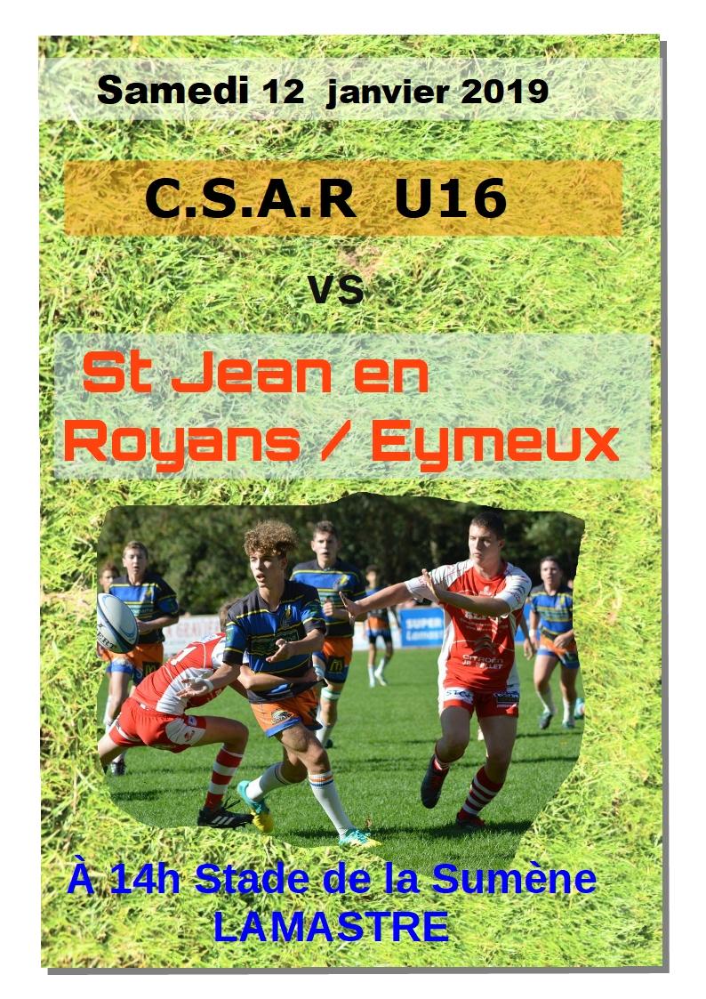 U16 12.1.19 SAINT JEAN ROYANS EYMEUX