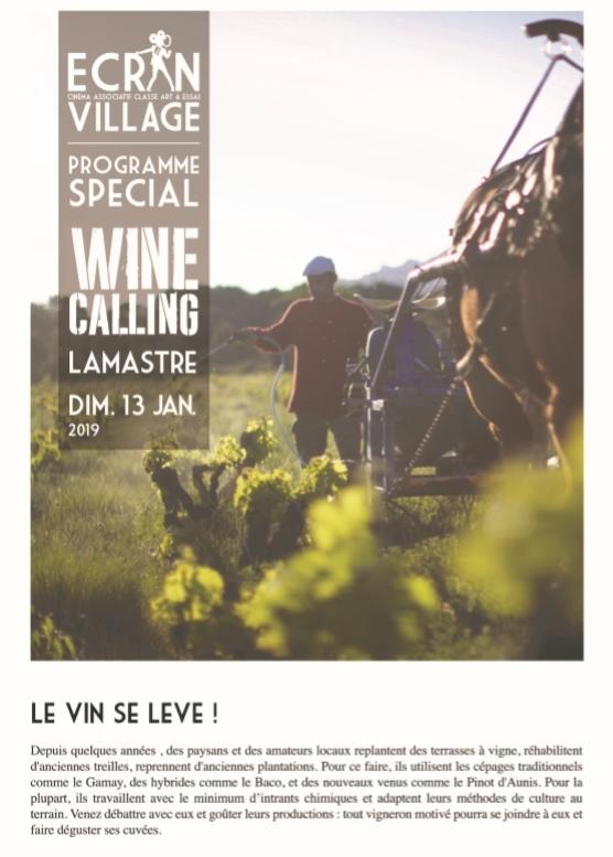 wine calling lamastre ecran village 1