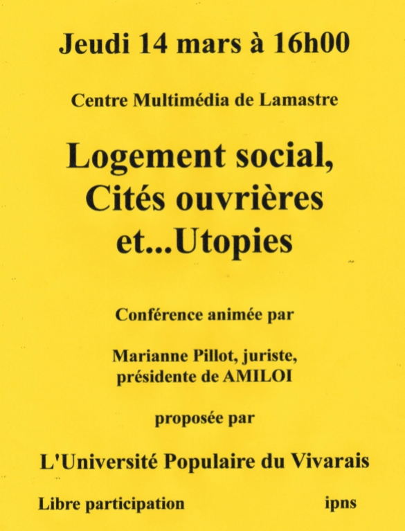 logement social utopies lamastre